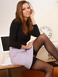 Secretary shows a sexy strip in her office sex pictures