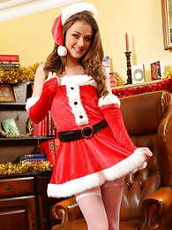 Jess Impiazzi makes for a real treat at christmas in her sexy santa outfit sex pictures
