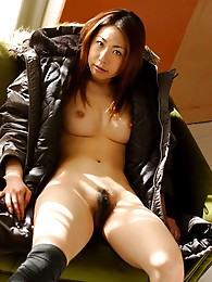 Japanese whore Sumira enjoys flashing her tits and tight ass on her dates pictures