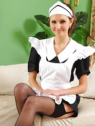 see this cheeky maid tease her way out of her uniform pictures