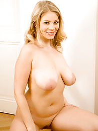 Busty blonde babe spreading sweet pussy sex pictures